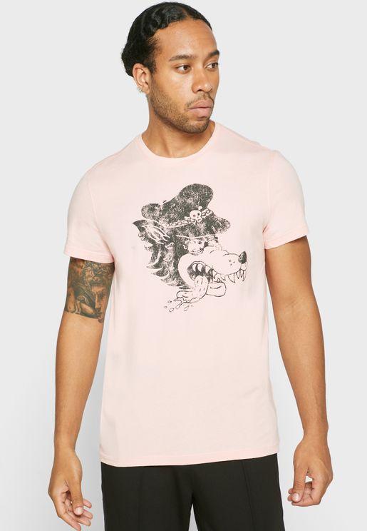 Wolfhead Crew Neck T-Shirt
