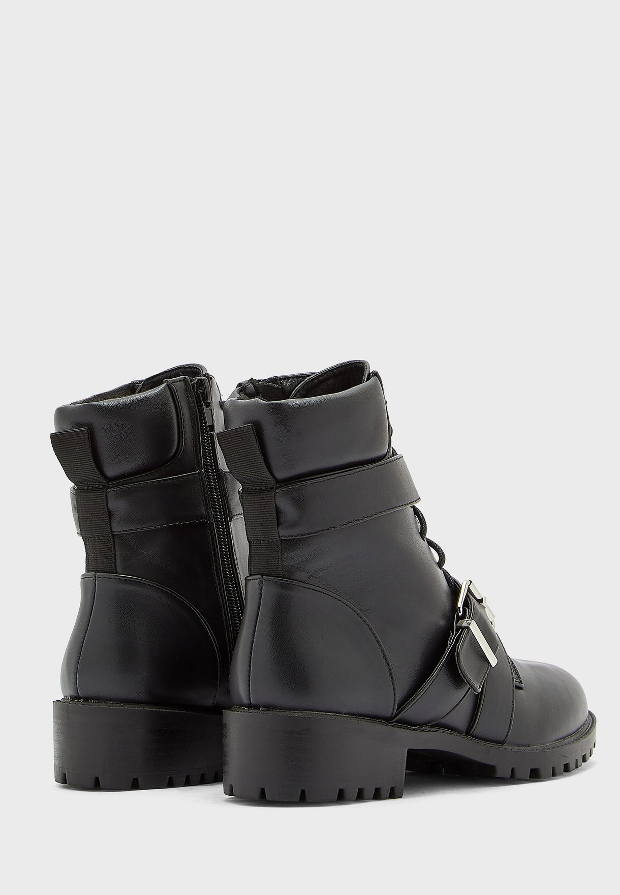 Buckle Detail Military Boot