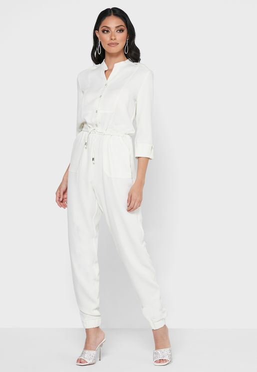 Quarter sleeves jumpsuit