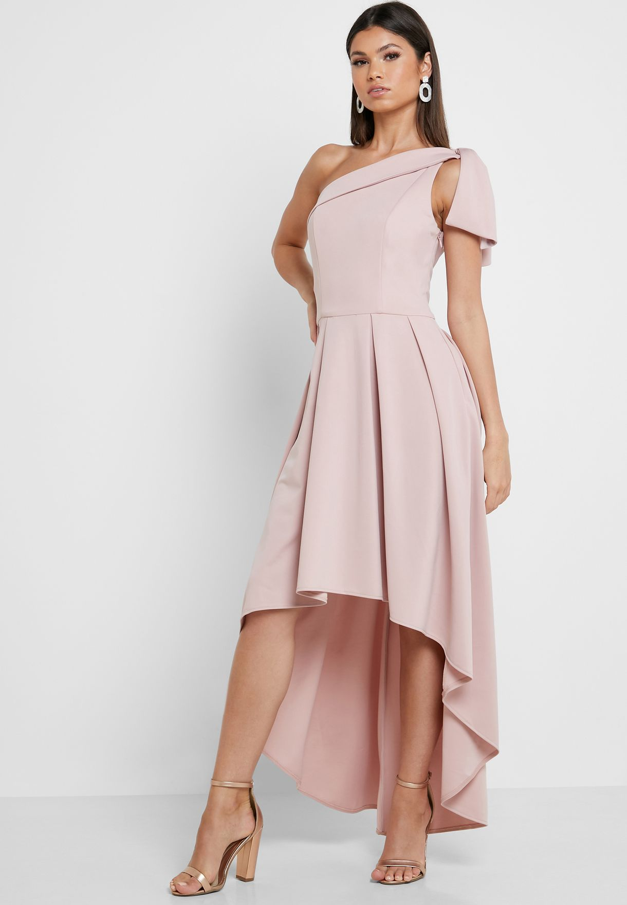 One Shoulder High Low Dress