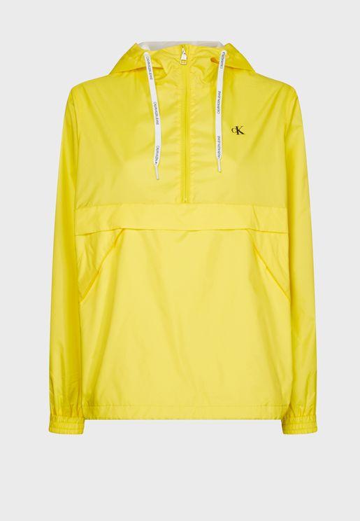 Zip Detail Hooded Jacket
