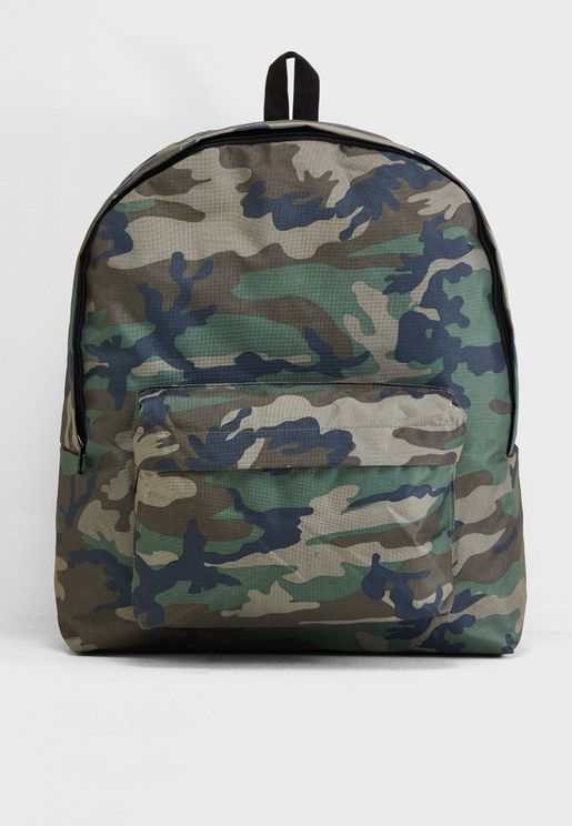 Oversized Camo Backpack