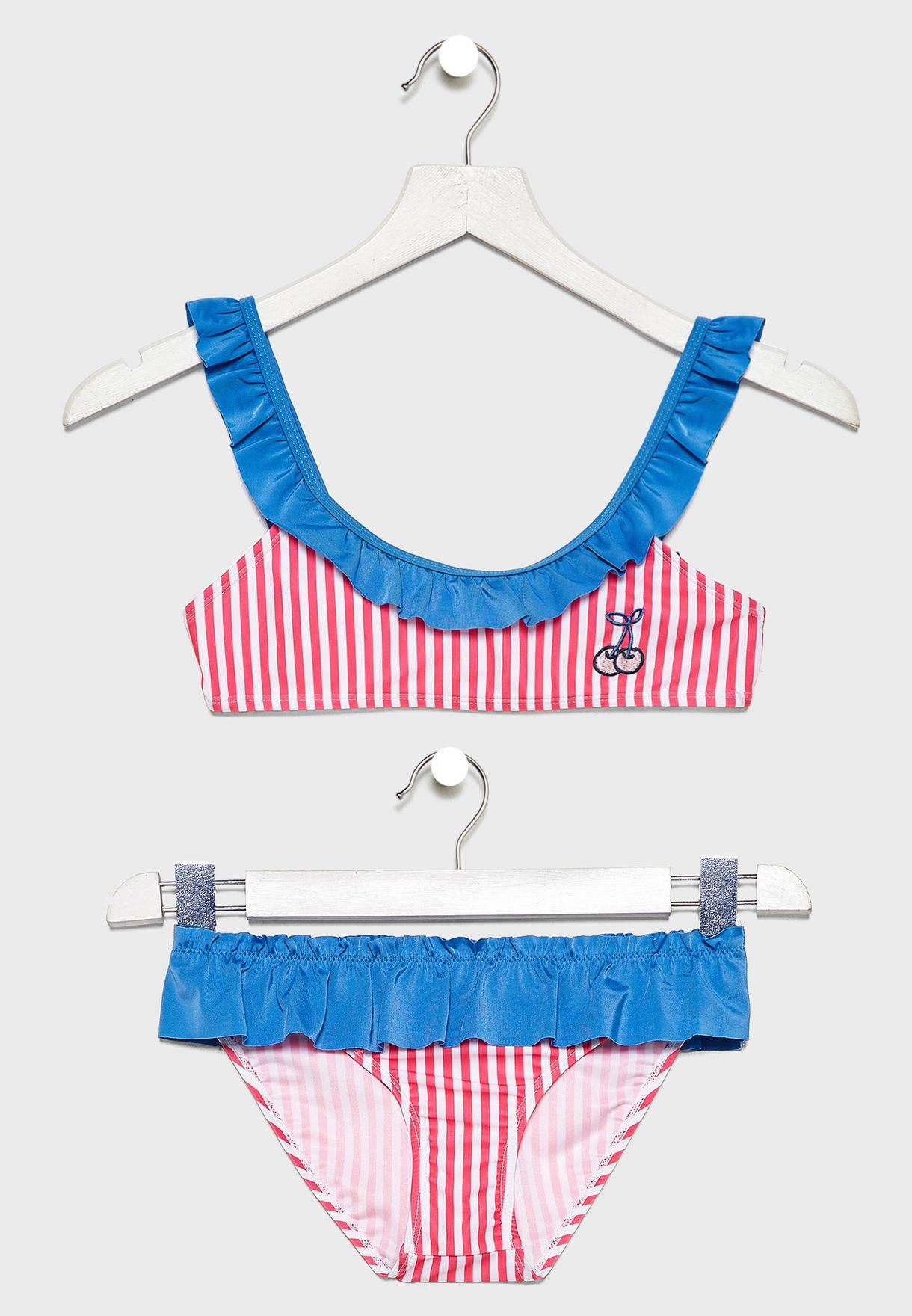 Kids Printed Bikini Set