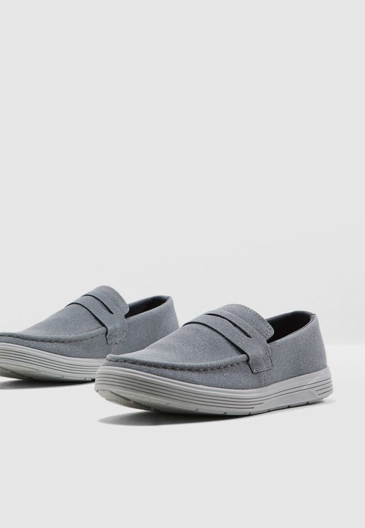 Faux Suede Casual Slip Ons