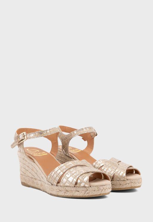 Casual Mid Heel Wedge Sandals