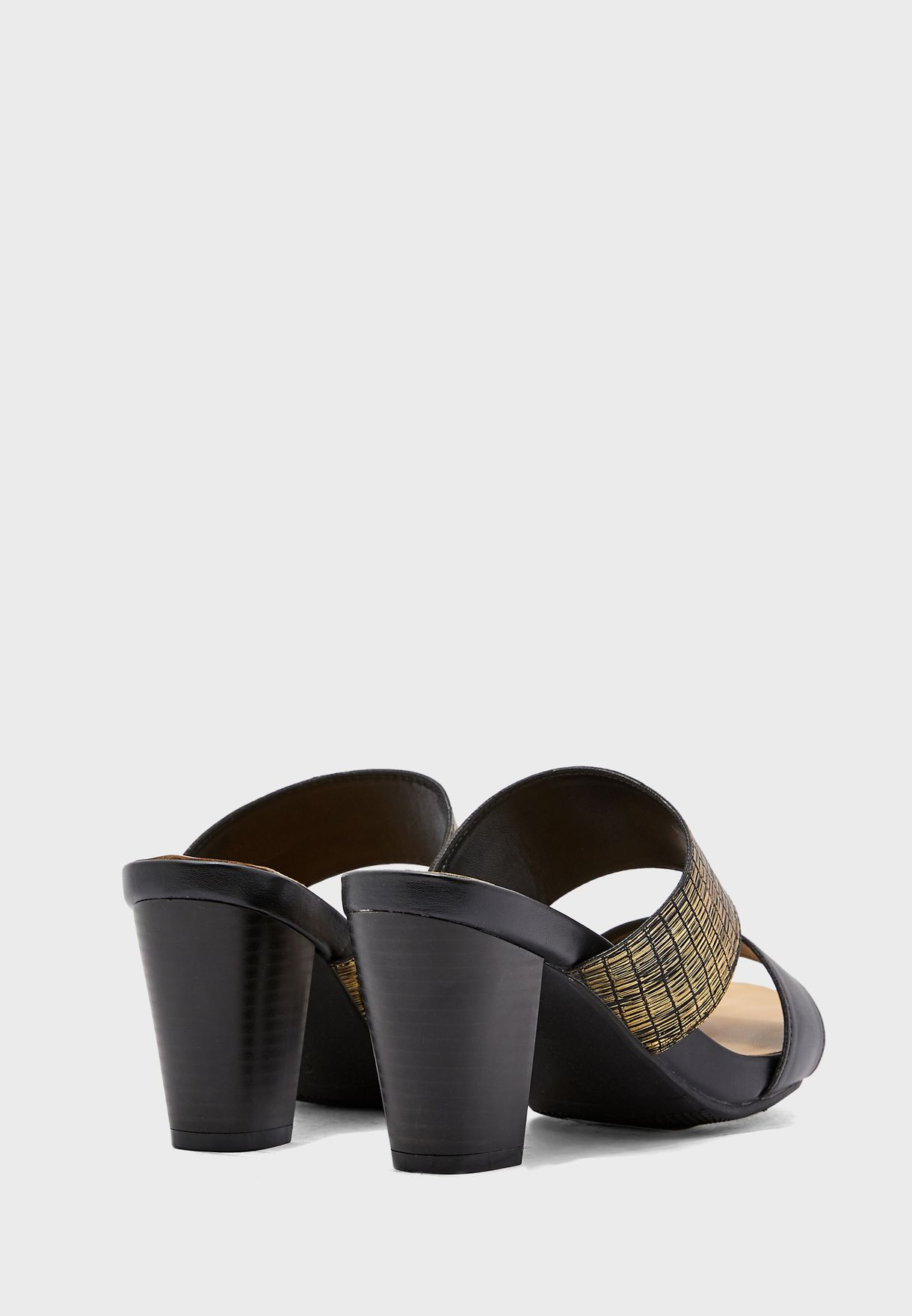 Double Strap High Heel Sandal