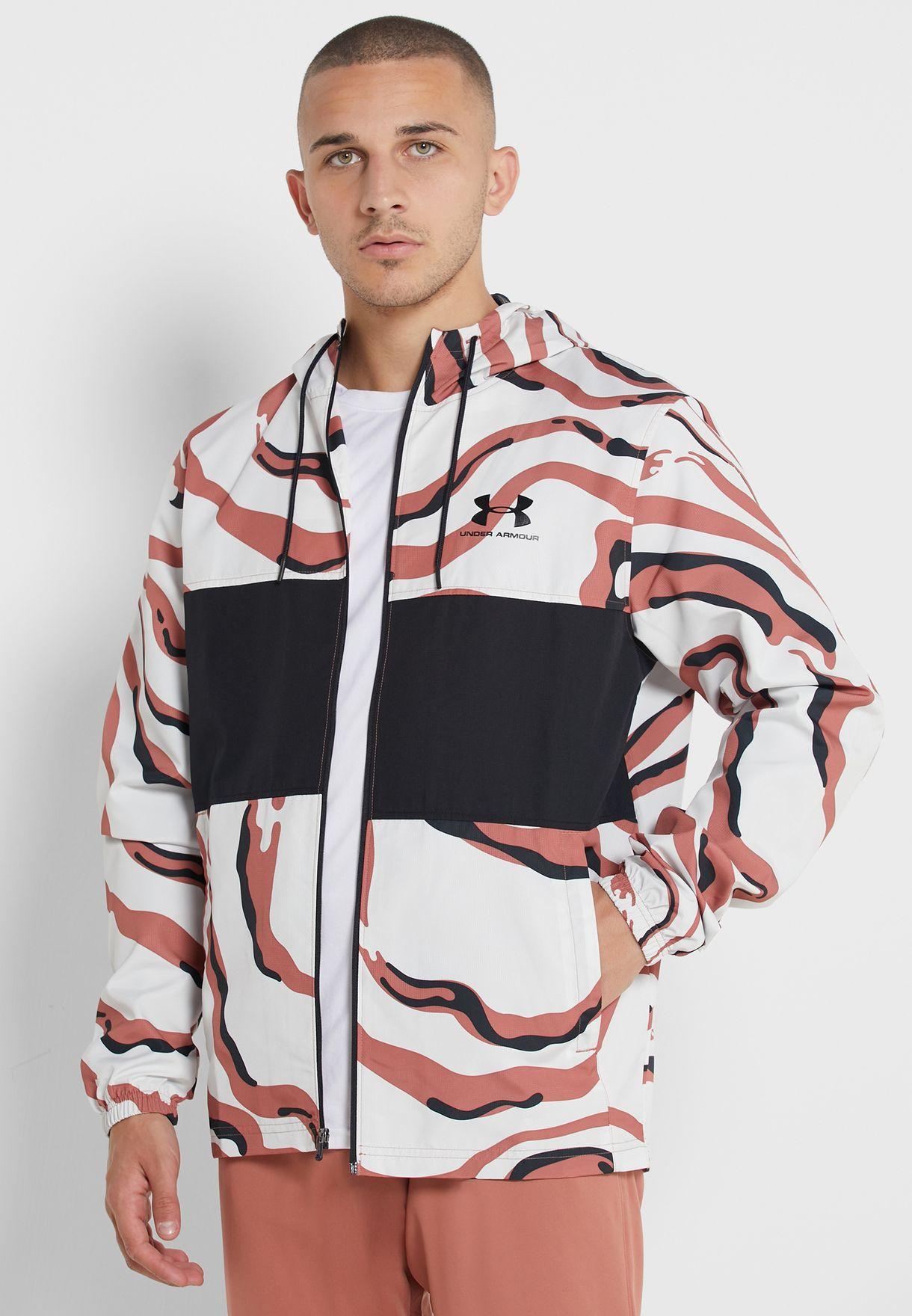 Sportstyle Wind Printed Hooded Jacket