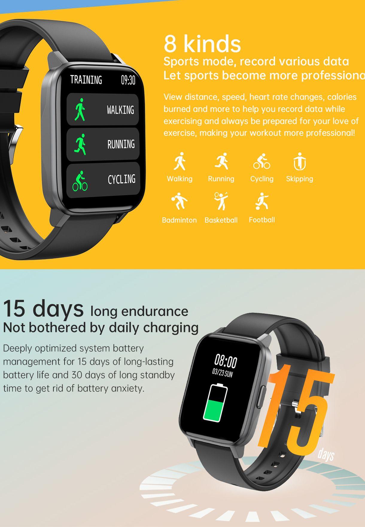 ساعة ذكية بخصائص للصحة واللياقة البدنية