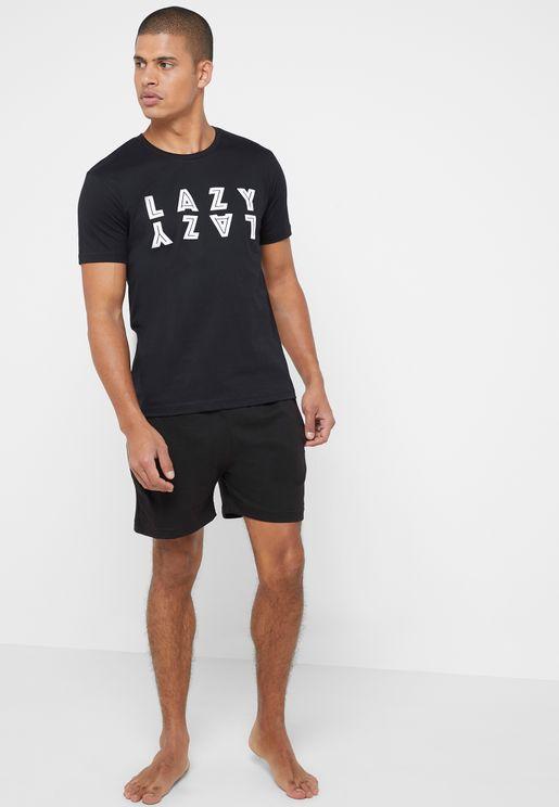 Lazy Shorts Pyjama Set
