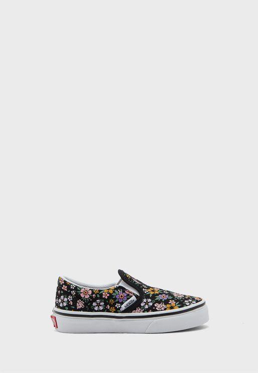 حذاء سهل الارتداء بطبعات ازهار