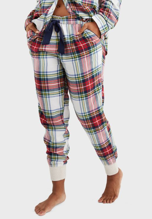 Printed Cuffed Pyjama Joggers
