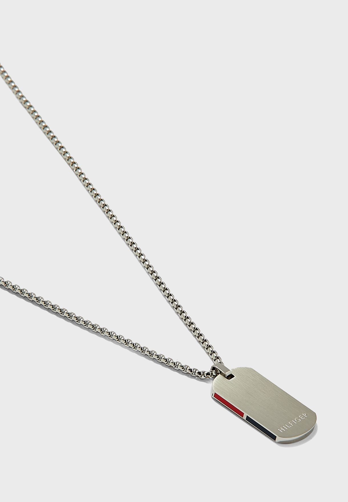 Corp Stripe Dog Tag Necklace