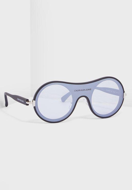 CKJ18507S Shield Sunglasses