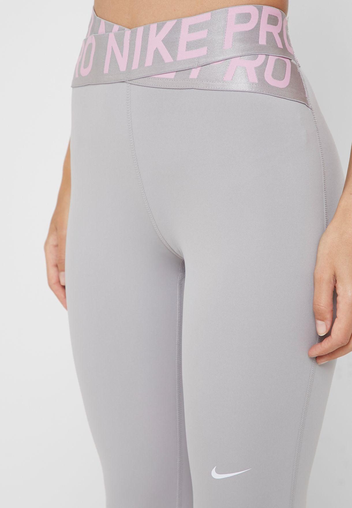 8d53d9d66 Shop Nike grey Pro Intertwist 2.0 Leggings BV6189-061 for Women in ...