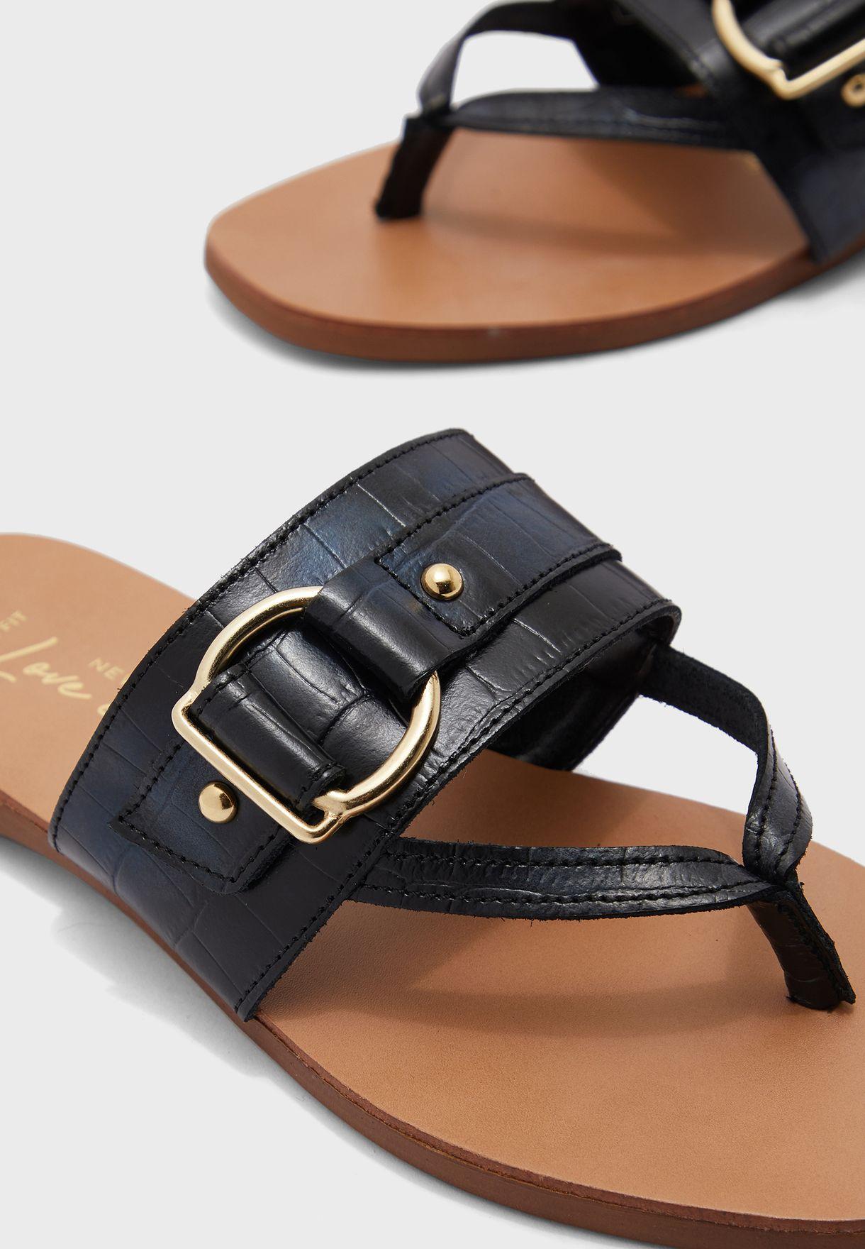 Frinton Lea Buckle Detail Flat Sandal
