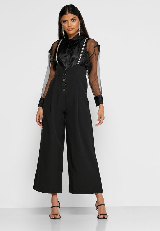 Button Detail Jumpsuit