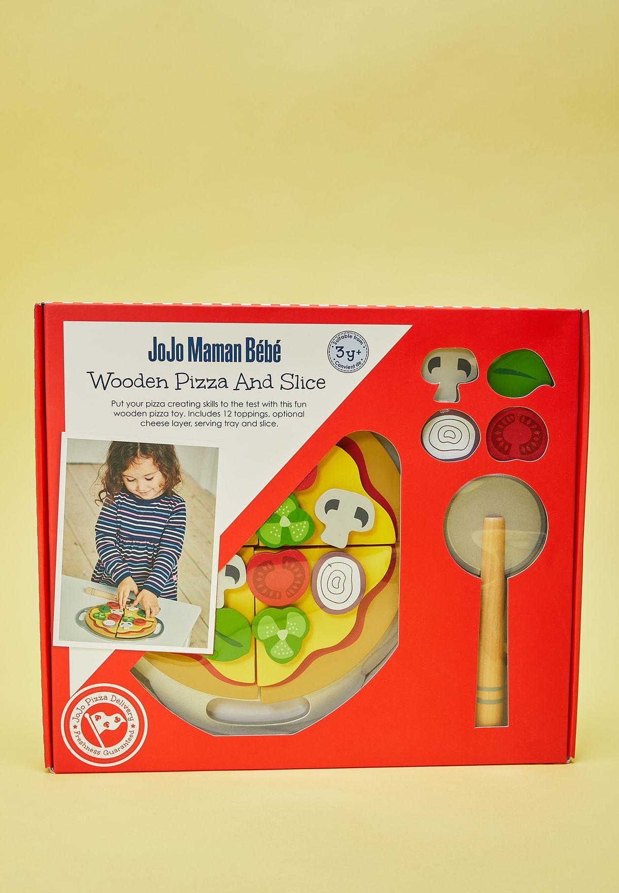 لعبة بيتزا خشبية