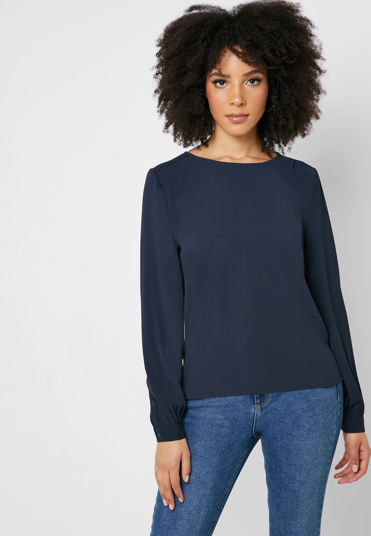 Cuffed Long Sleeve Top