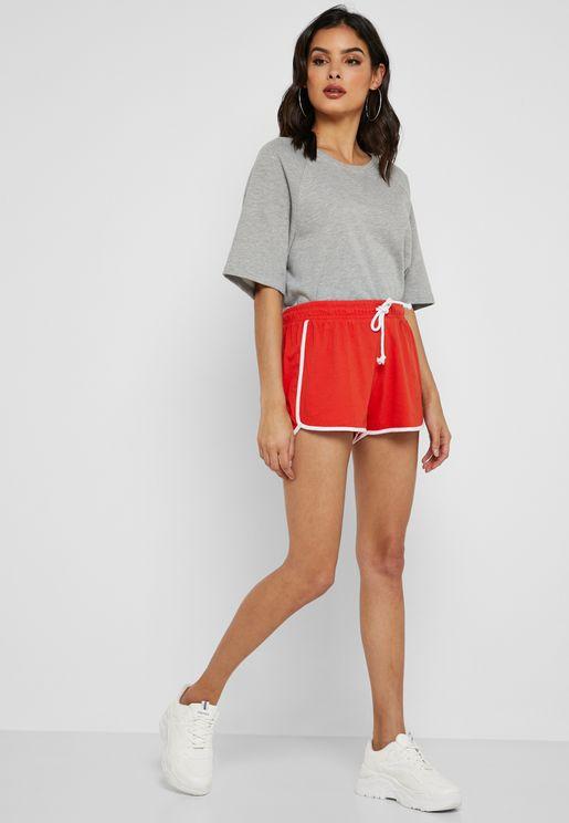 Contrast Piping Running Shorts