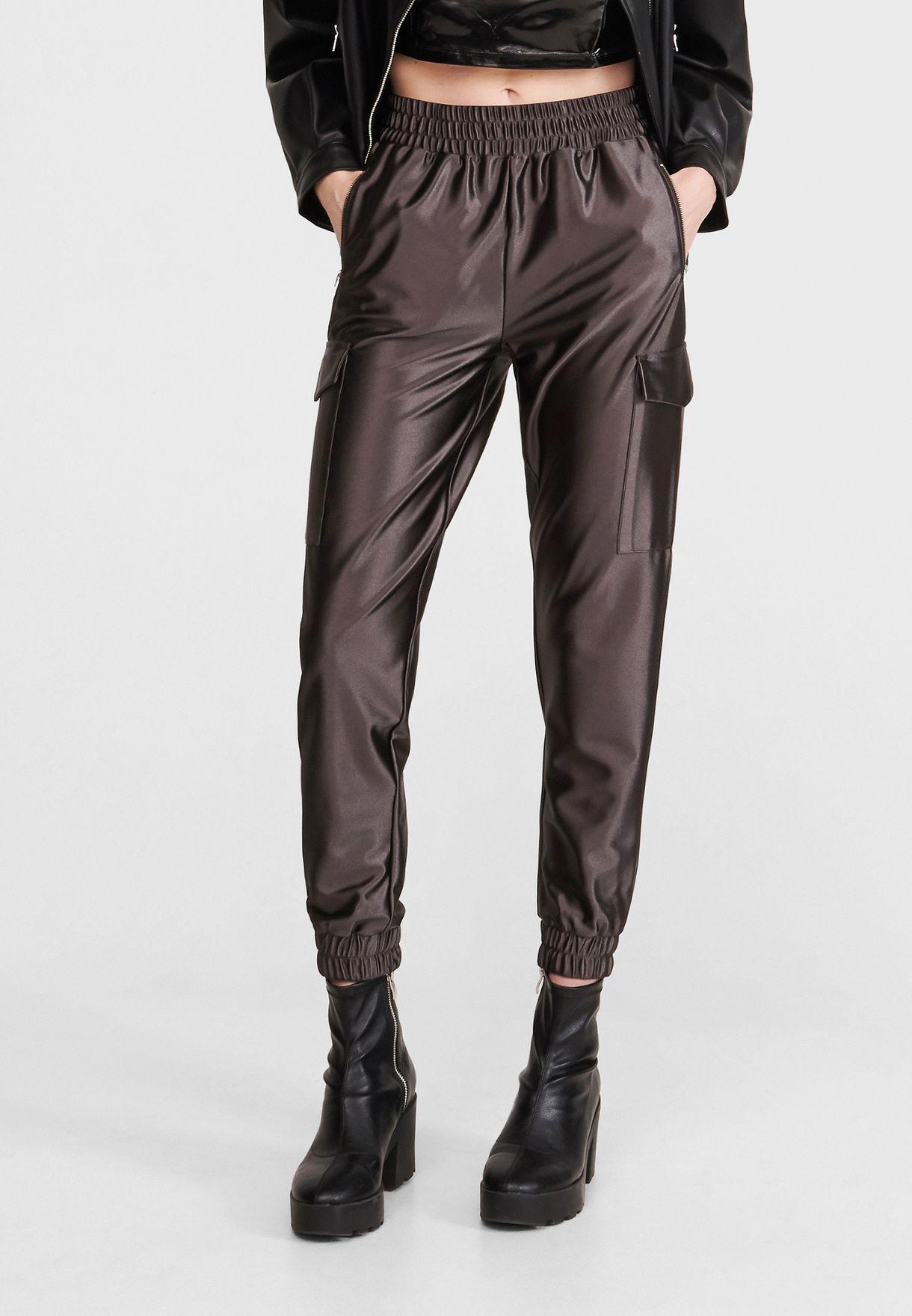 Pocket Detail Cuffed Pants