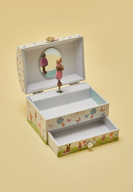 Bunny Domed Musical Jewellery Box