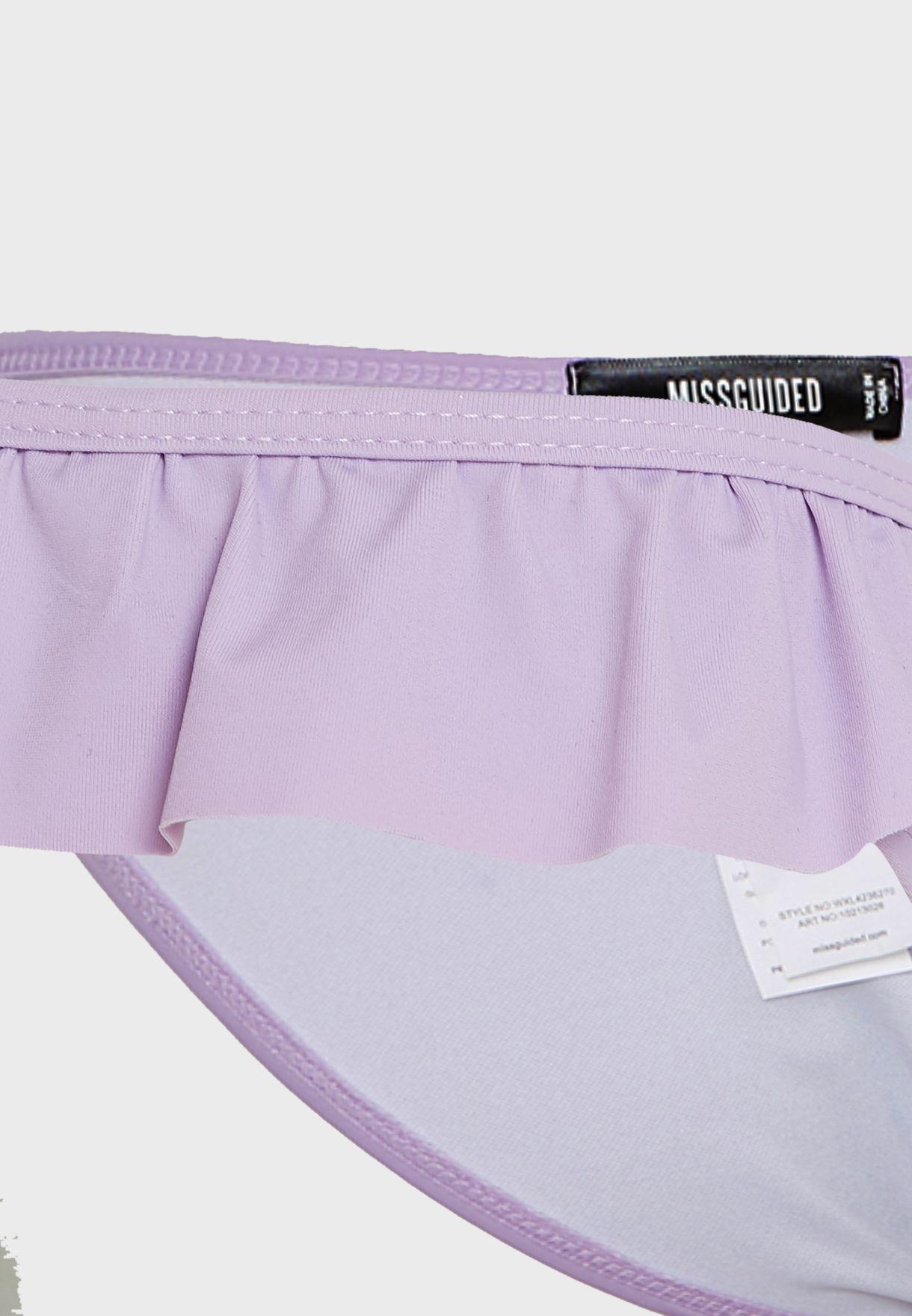 Frill Detail Bikini Top & Bottoms