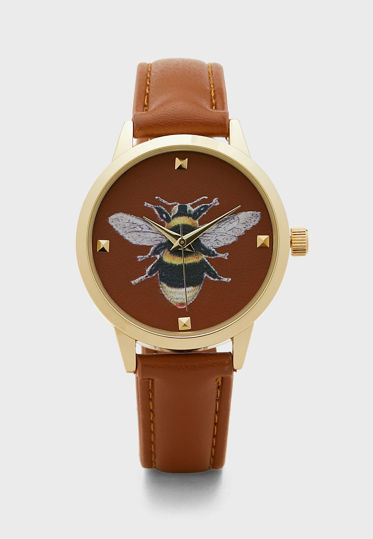 Bee Face Analog Watch
