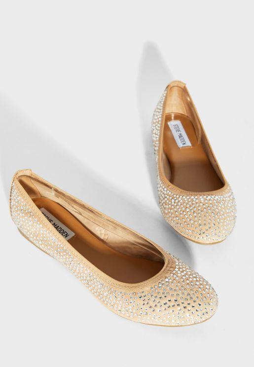حذاء باليرينا باحجار لامعة