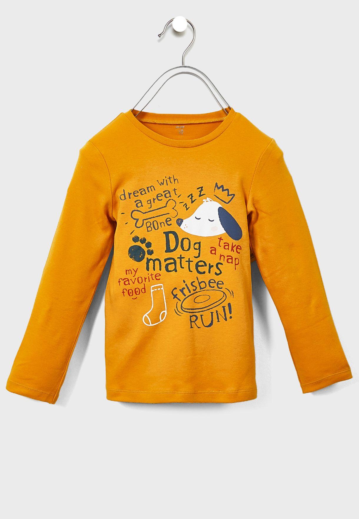 Youth Graphic T-Shirt + Pyjama Set