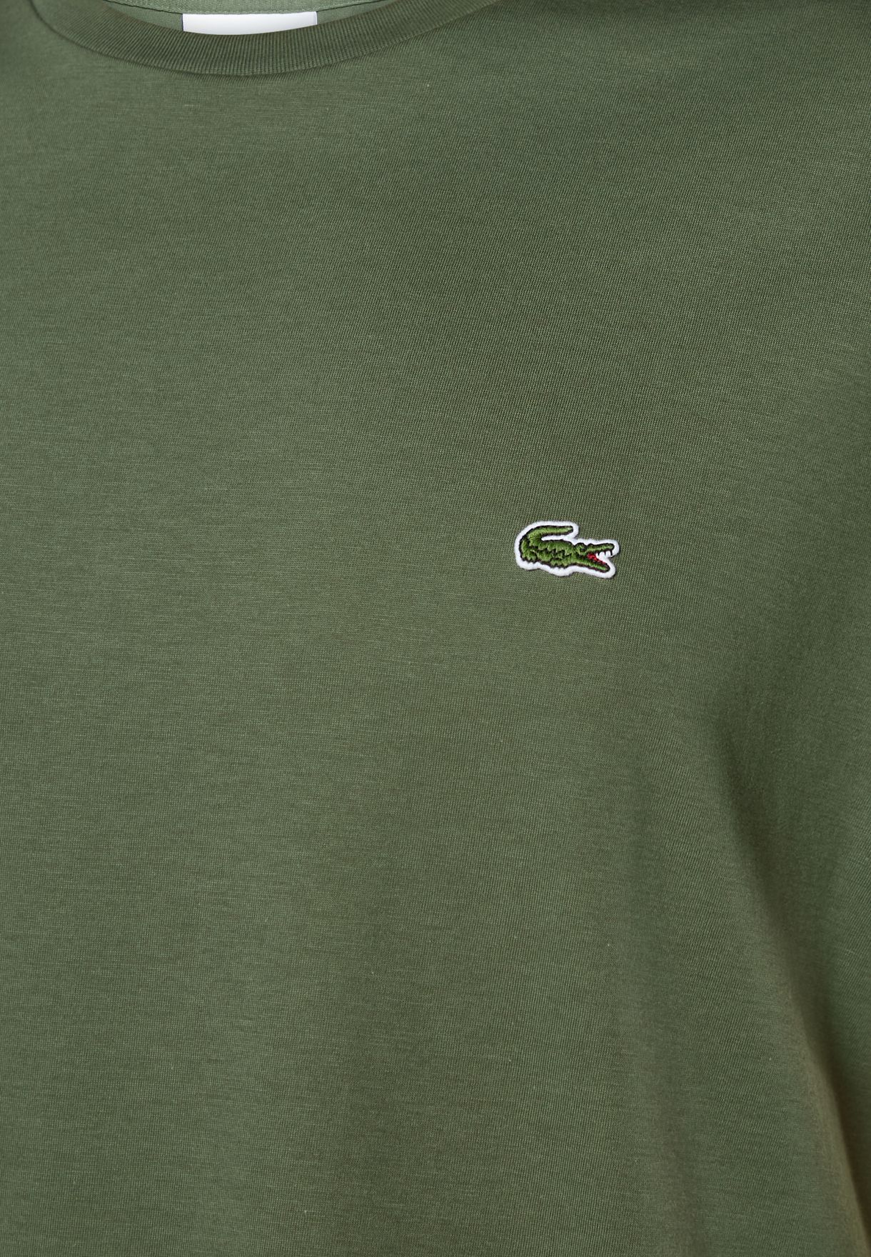 Embroidered Logo Crew Neck T-Shirt