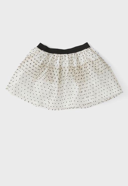 Infant Dot Print Skirt