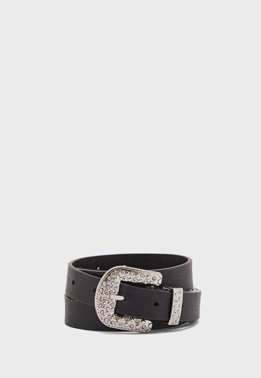 Diamante Western Buckle Belt