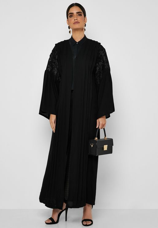 Handwork Pleated Abaya