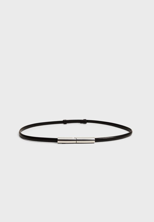 Casual None Allocated Hole Belt