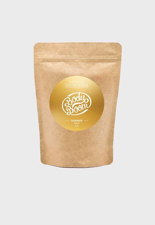 مقشر للجلد بالقهوة - ذهبي براق