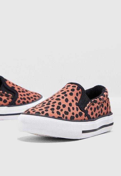 Kids Leopard Print Slip On