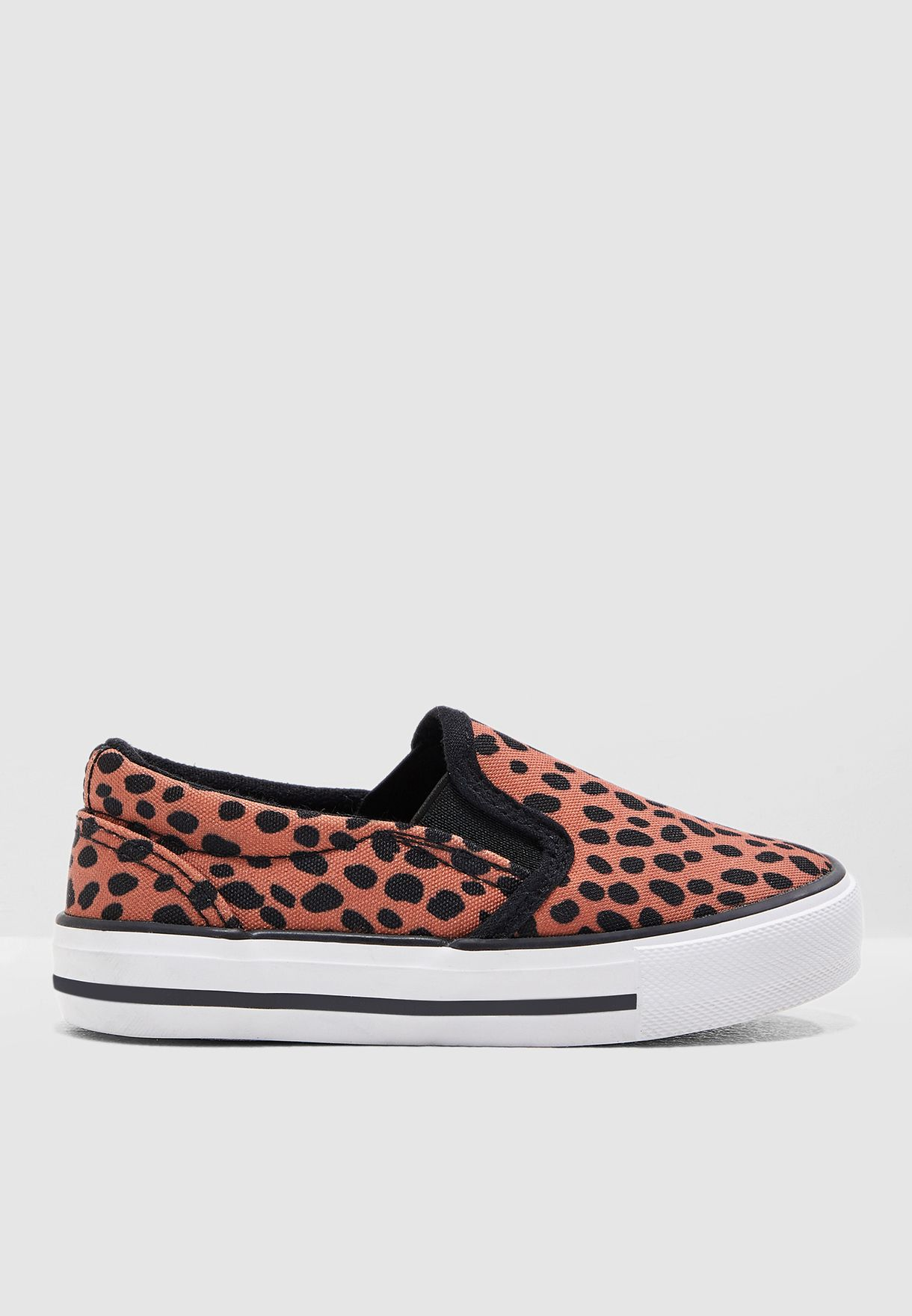 Kids Leopard Print Slip On