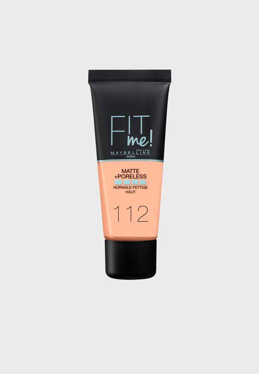 Fit Me Matte & Poreless Foundation -112 Soft Beige