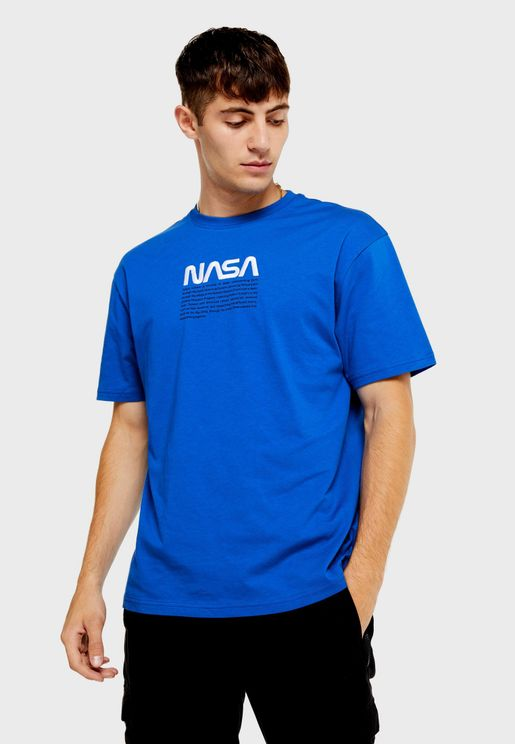 Nasa Oversized Crew Neck T-Shirt