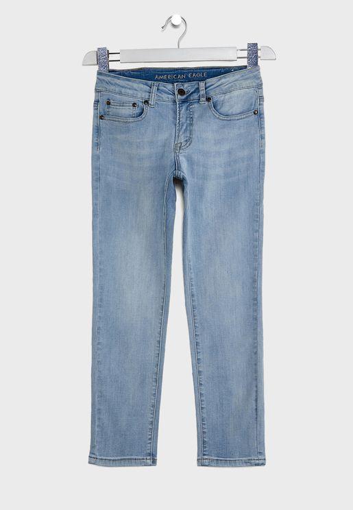 Kids Light Wash Skinny Jeans