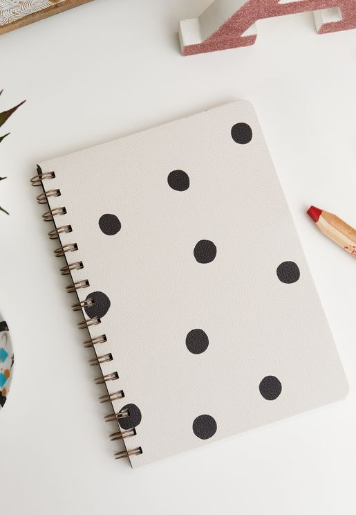 A5 Polka Dot Daily Scribe Journal