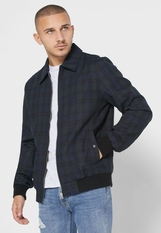 Checked Harrington Jacket