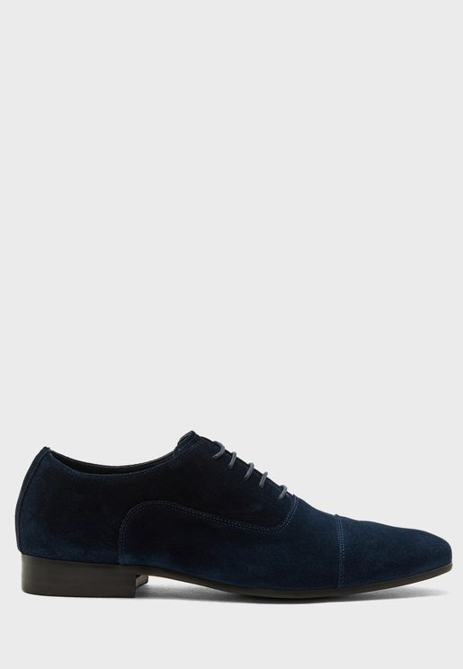 Genuine Suede Leather Casual Lace Ups