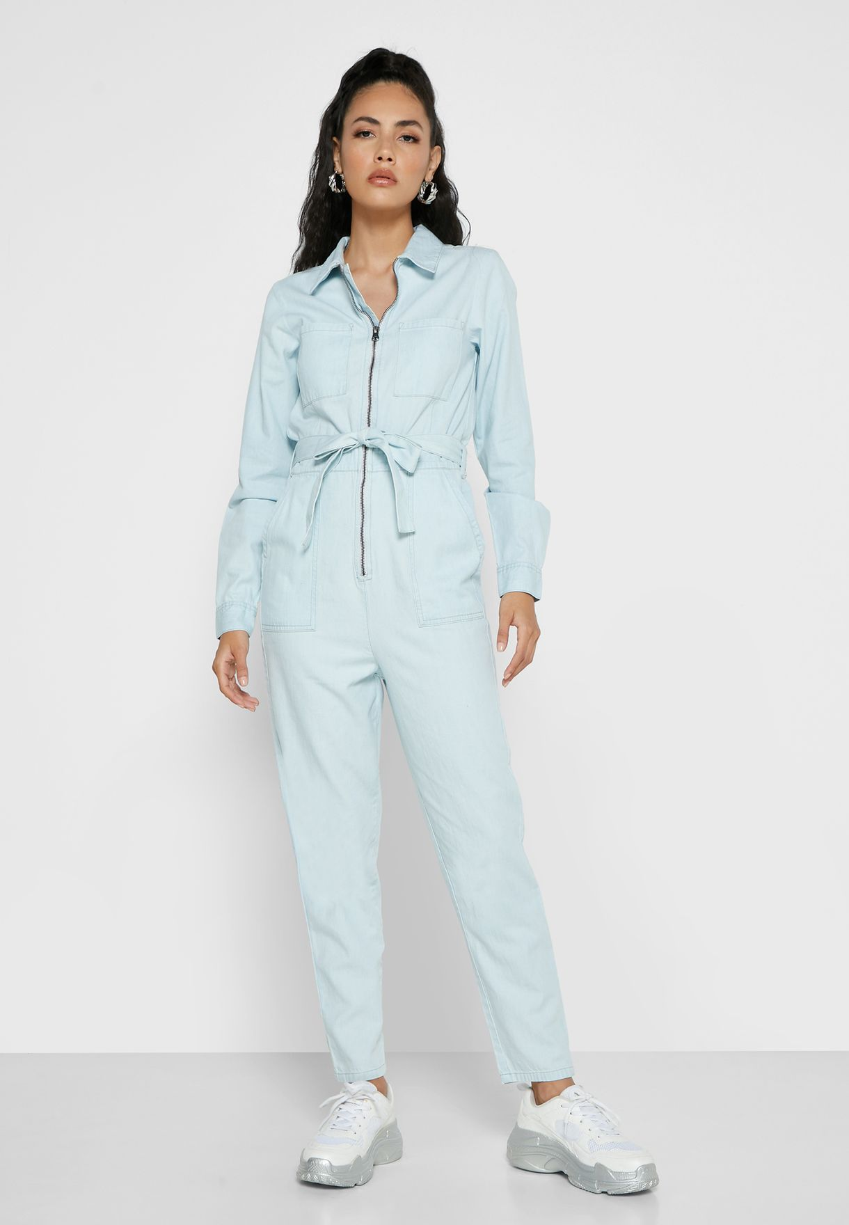 Denim Zip Through Boilersuit
