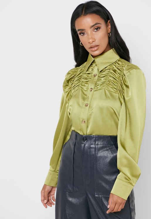 Ruched Detail Shirt