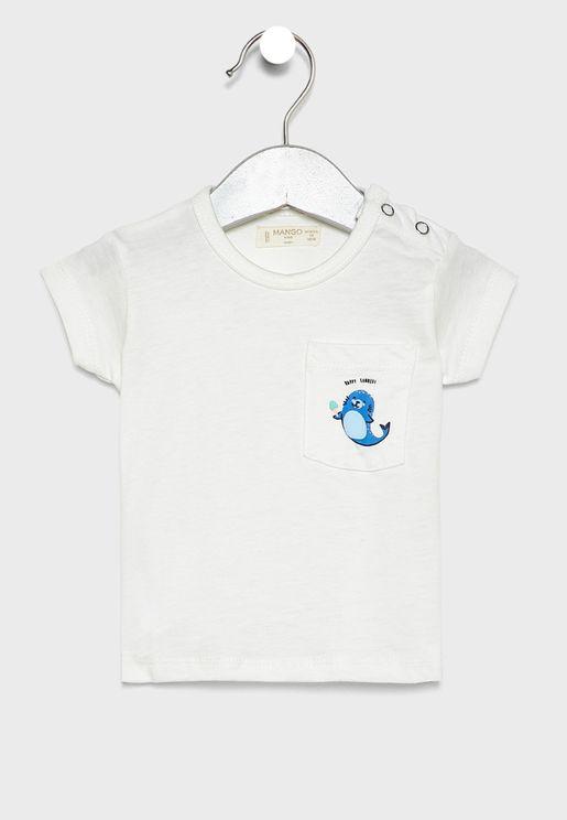 Infant Pocket Detail T-Shirt