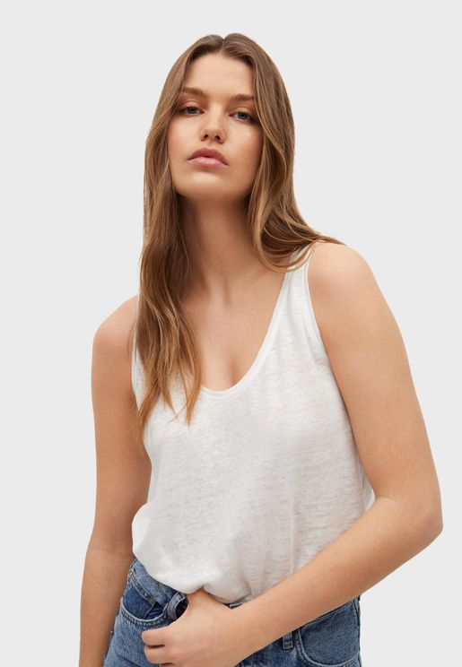 Knitted Plunge Top
