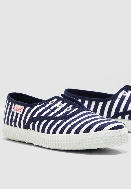Kids Striped Slip On