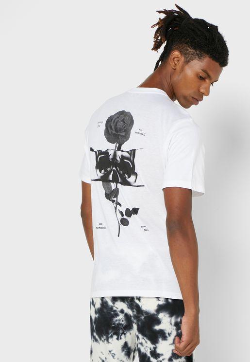 Skull Rose T Shirt
