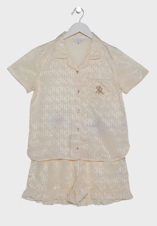 Kids Oyster Shirt + Shorts Pyjama Set